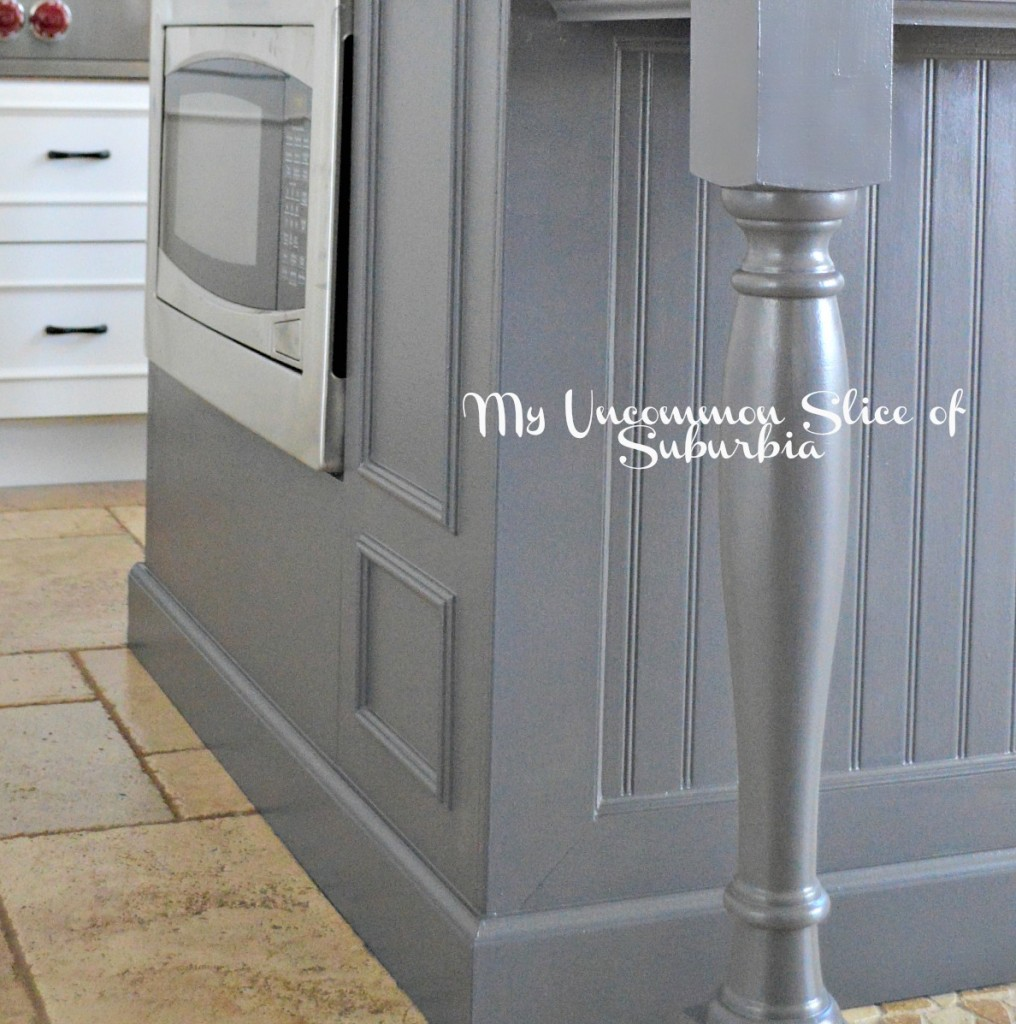 Kitchen Island Close up DIY Painted