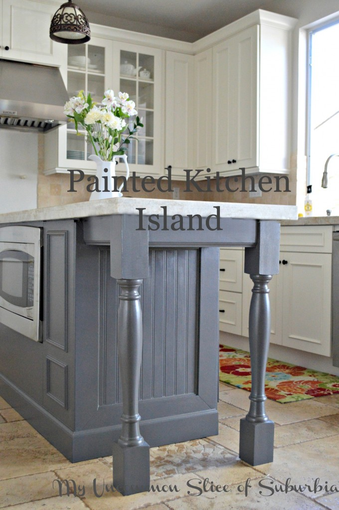 painted islands for kitchens painted kitchen island 9757
