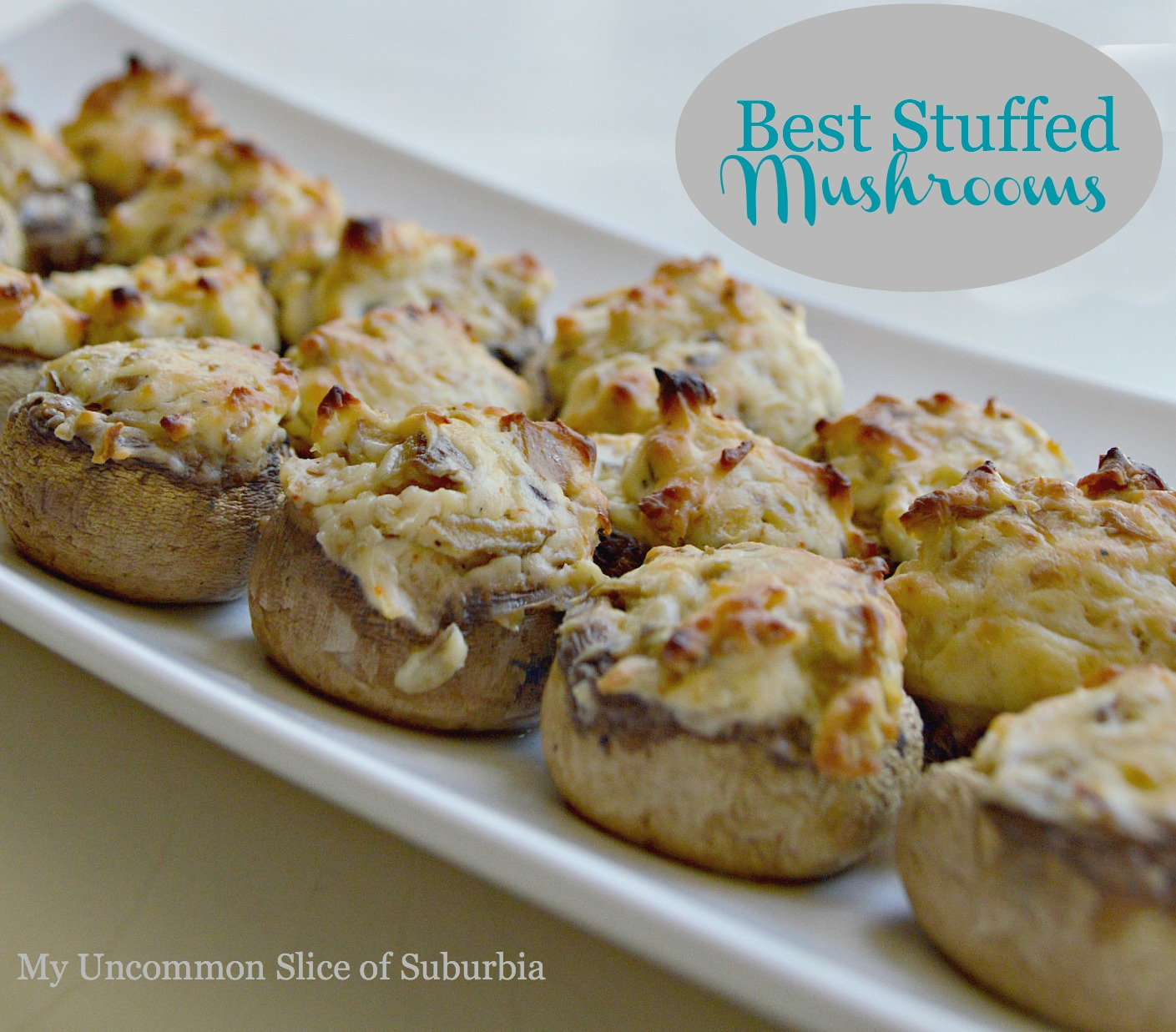 Stuffed Mushroom Recipe - My Uncommon Slice of Suburbia
