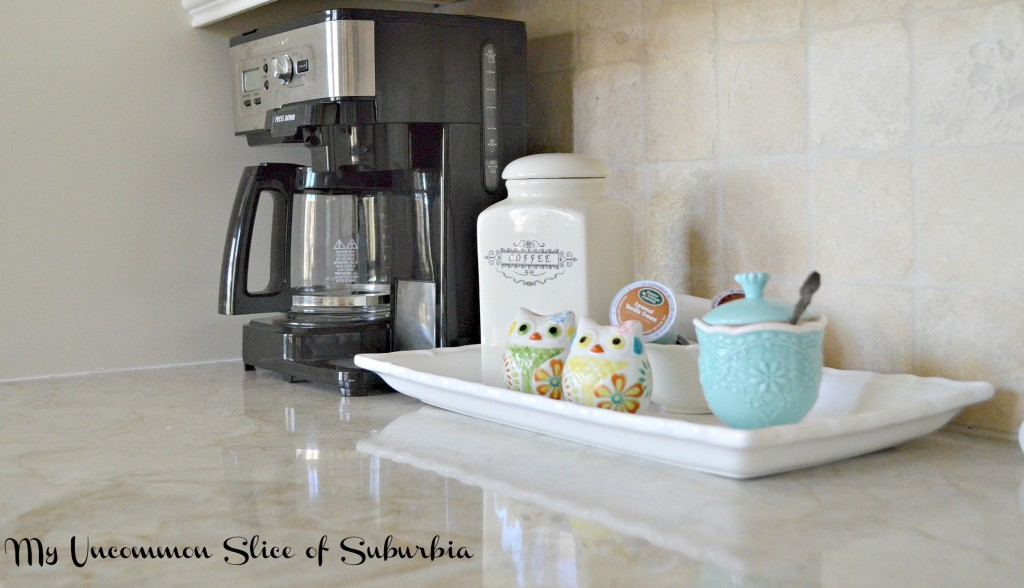 coffee bar on the kitchen counter