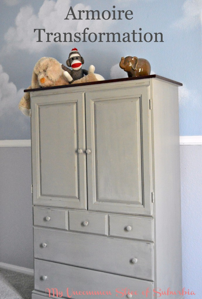 Armoire transformation using americana decor chalk paint