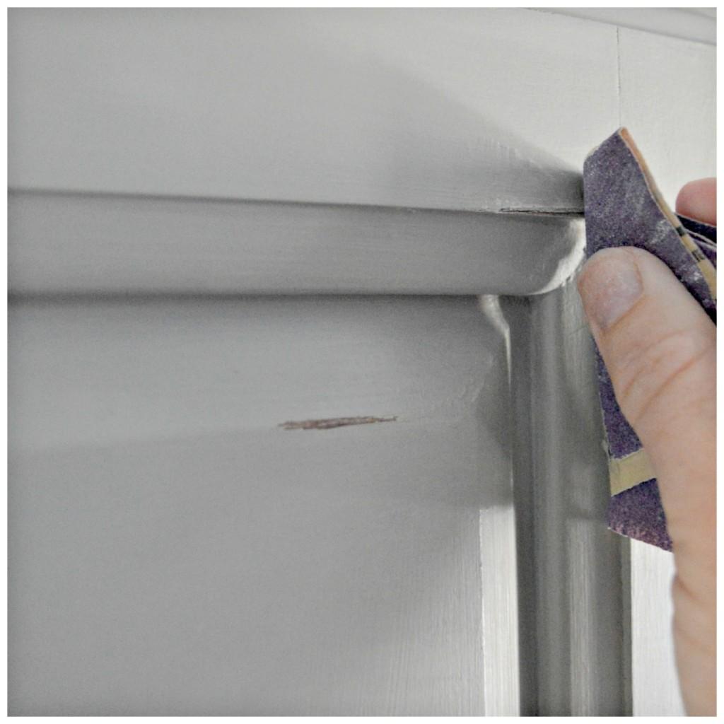 Distressing an armoire