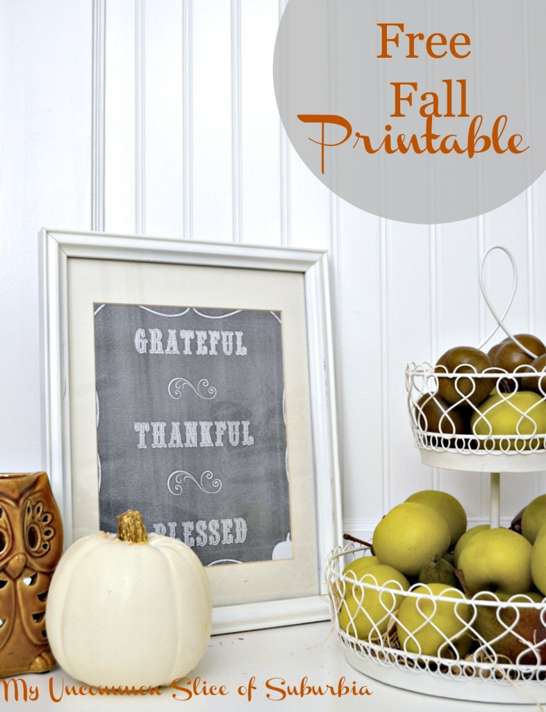 Free Fall Printable Greatful Thankful Blessed