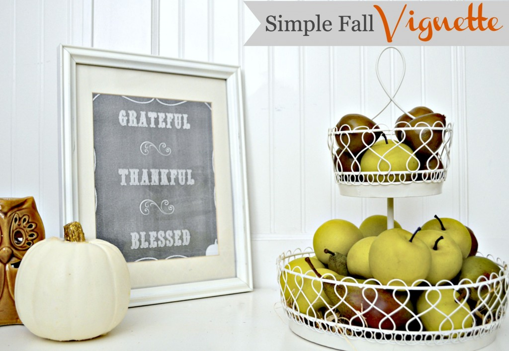 Simple Fall Vignette