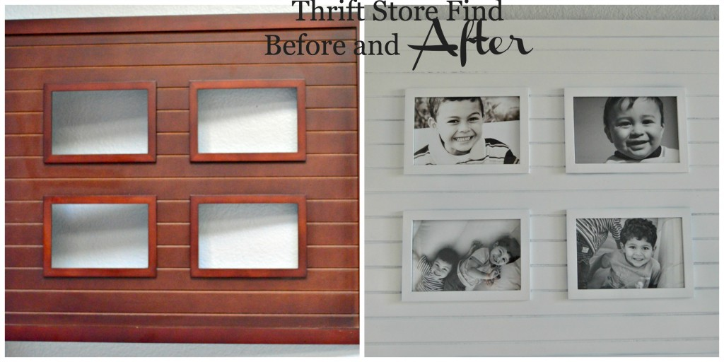 picture frame before and after