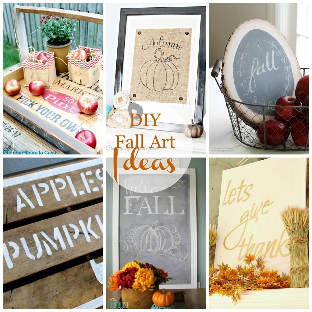 DIY Fall Art ideas on a budget