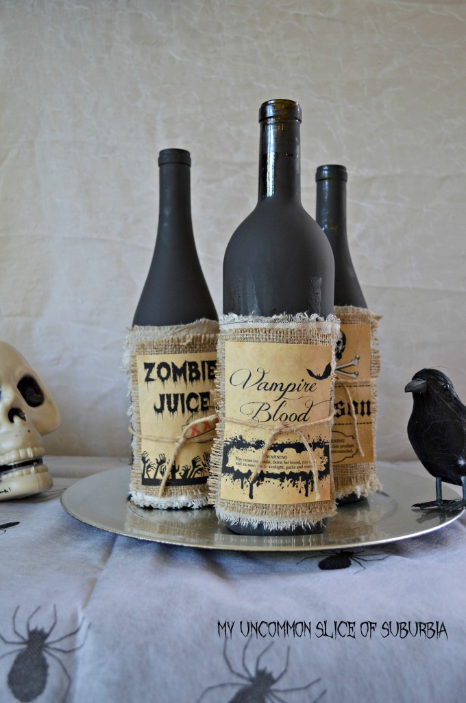 make these potion bottles out of wine bottles, great tutorial