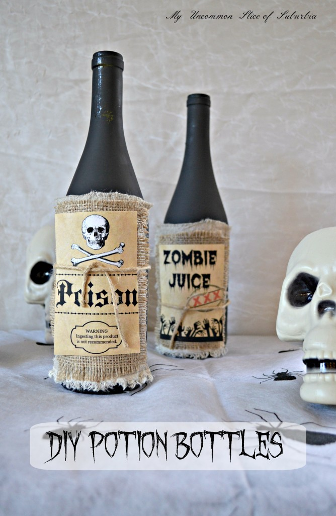 Upcycle a wine bottle and turn it into a potion bottle