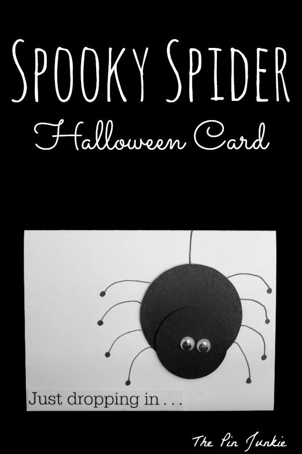 halloween card spider