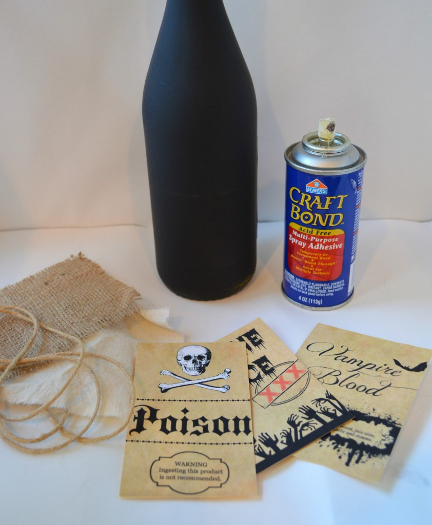make a potion bottle for Halloween