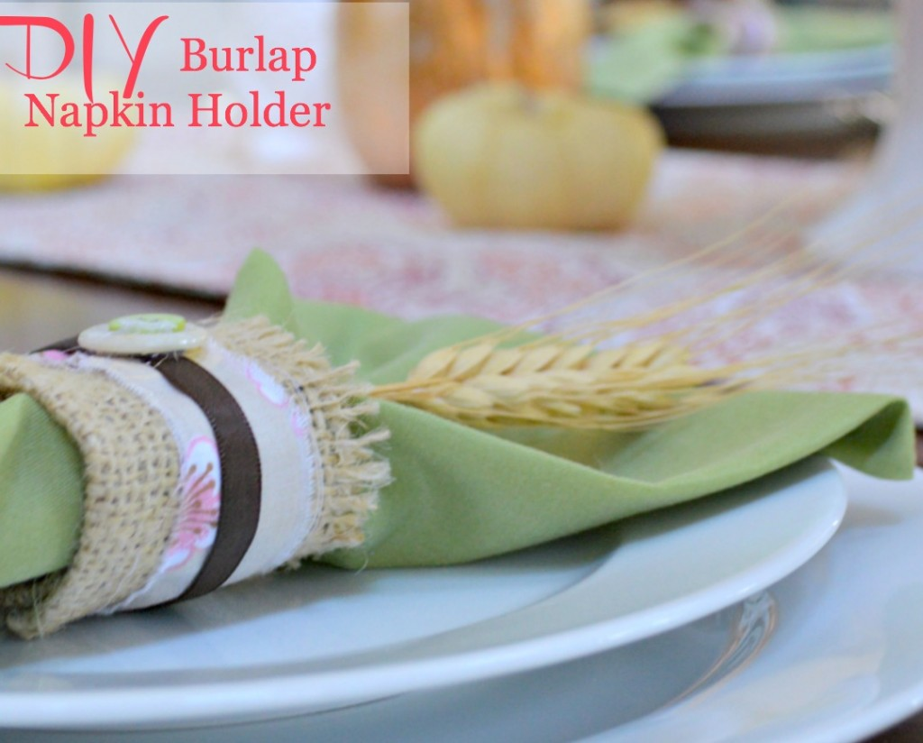 DIY Burlap Napkin Holder for Thanksgiving