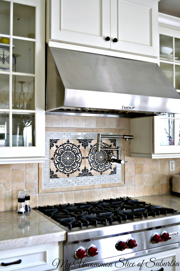 Kitchen Backsplash and Wolf Hood