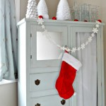 Armoire dressed for Christmas