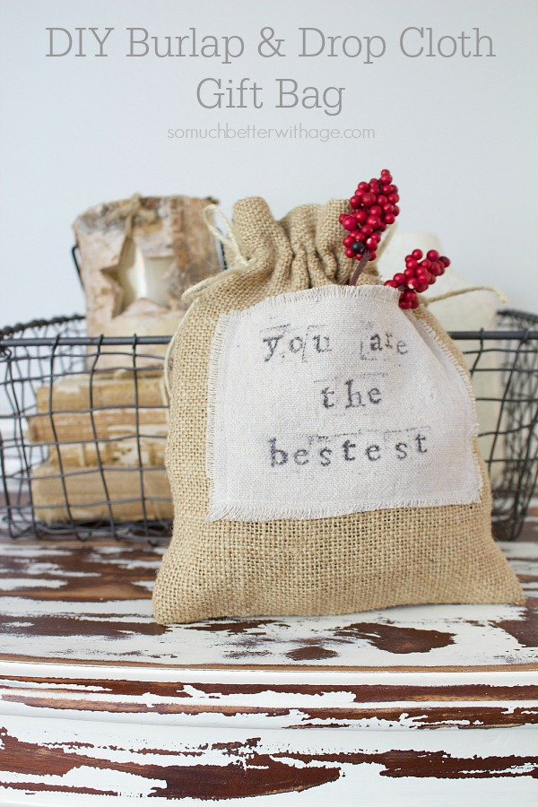 DIY-burlap-drop-cloth-gift-bag