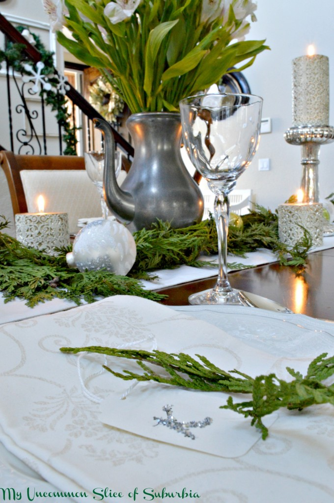 Table setting with homemade table setting