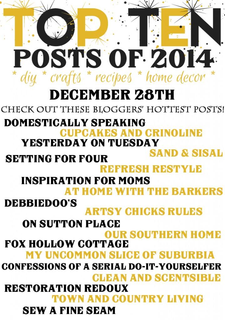 Top Ten Posts of 2014 Blog Hop