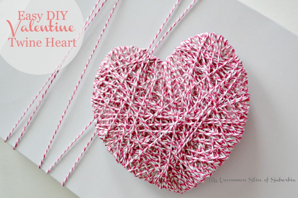 Easy DIY Valentine Twine Heart