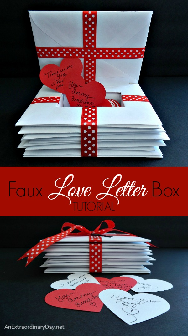 Faux Love Letter Box Tutorial Anextraordinaryday Net My