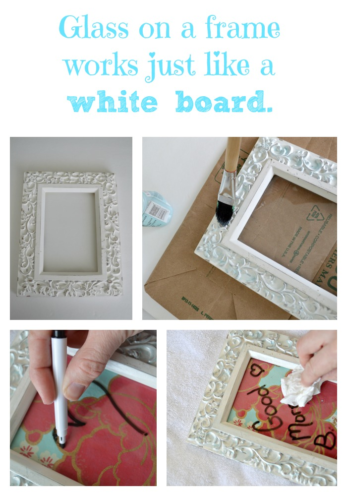Glass on a Frame works just like a white board