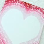 Ombré Valentine Heart Using Eraser Dot Art