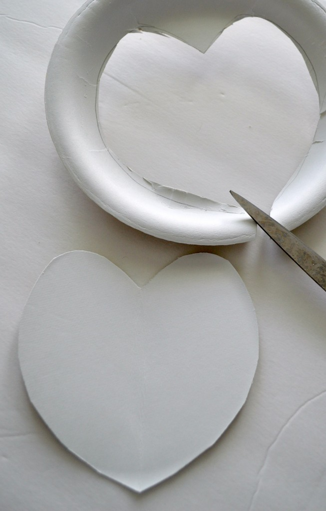 Valentines Heart made with twine and a plate