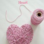 DIY Twine Valentine's Heart