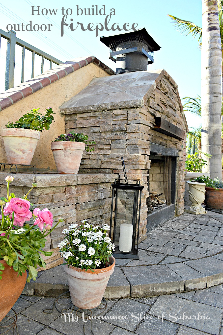 how to build an outdoor stacked stone fireplace rh myuncommonsliceofsuburbia com Build Your Own Outdoor Fireplace Outdoor Stacked Stone Fireplace