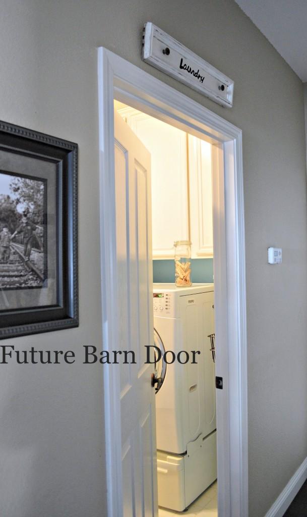 Turn a regular door into a barn door