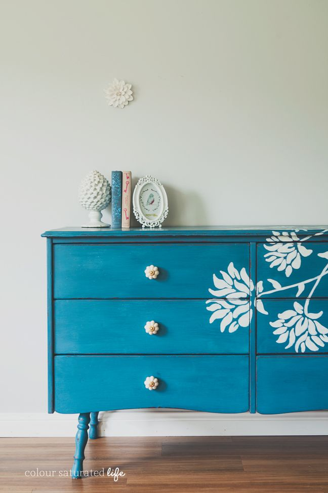 Dresser-Makeover-with-Floral-Detail