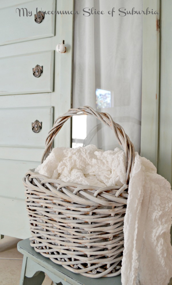 Make a regular brown basket look like a french antique basket
