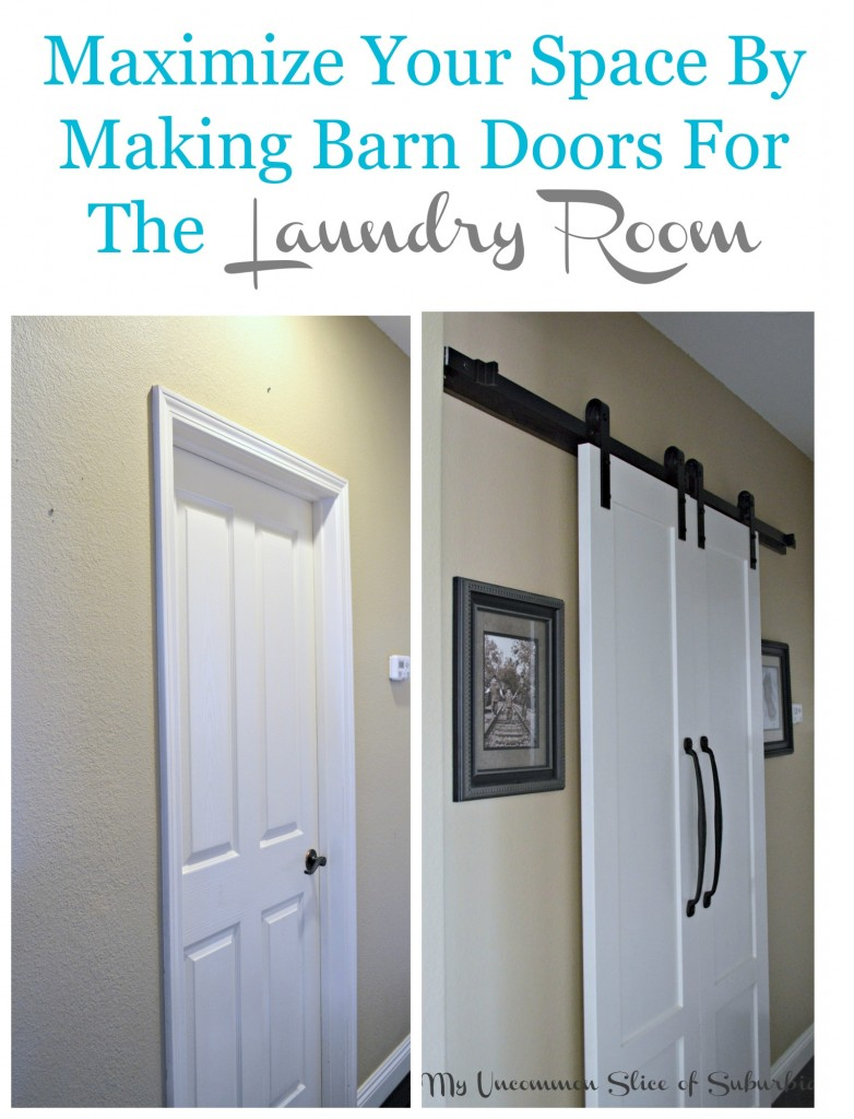 Maximize your space by making barn doors for the laundry room