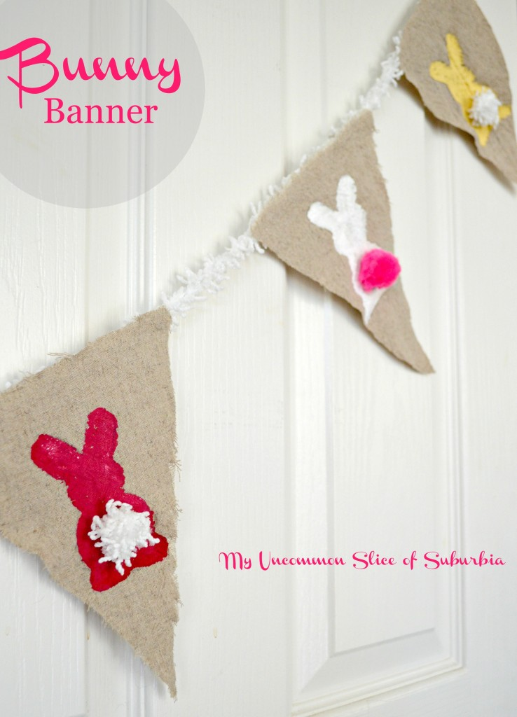 Simple make your own bunny banner