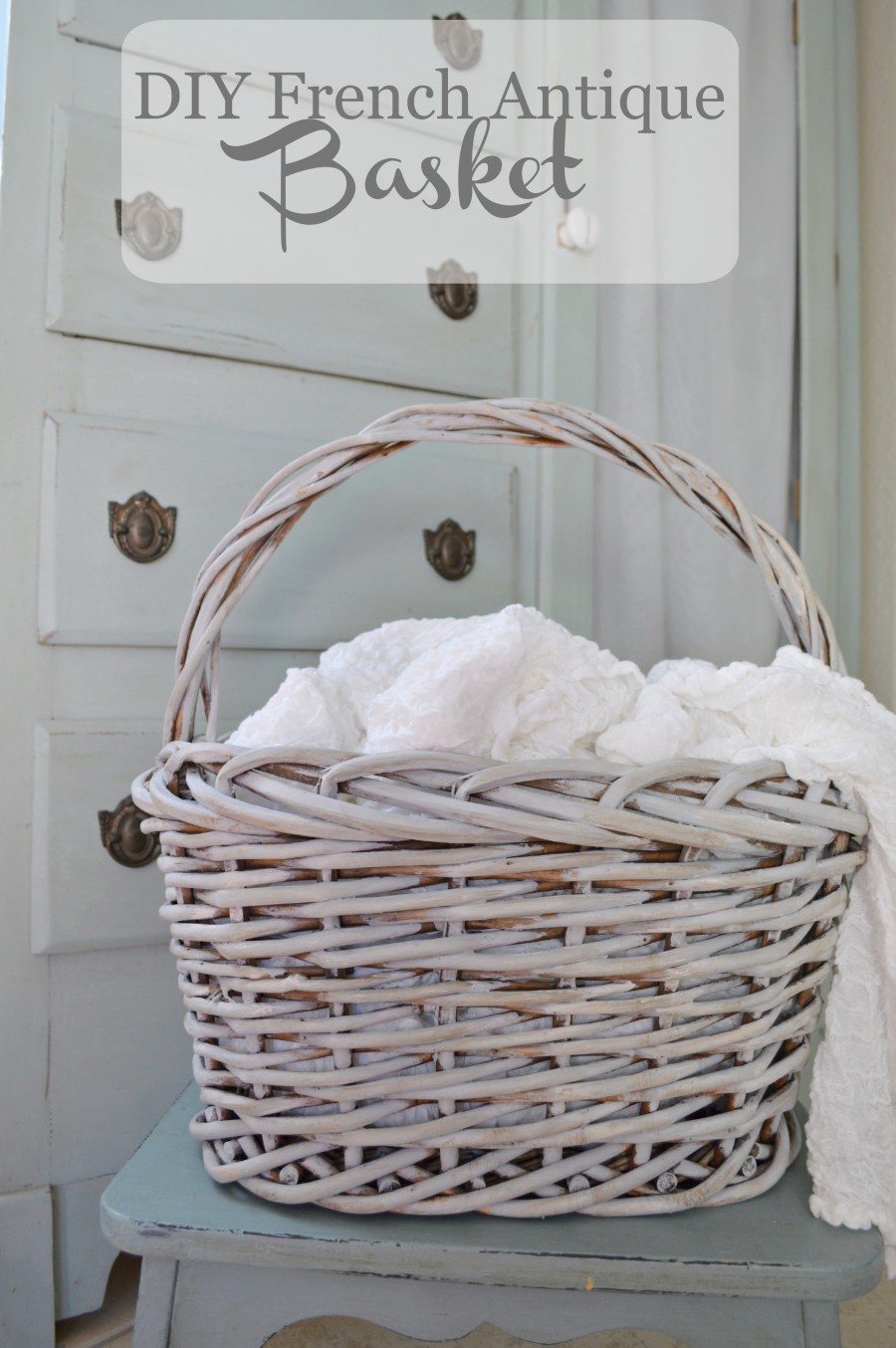 Step by step tutorial on how to make a basket look   antique