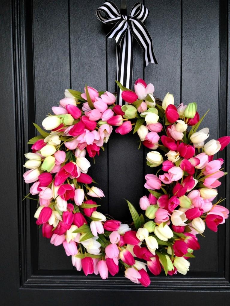 spring tulip wreath 8