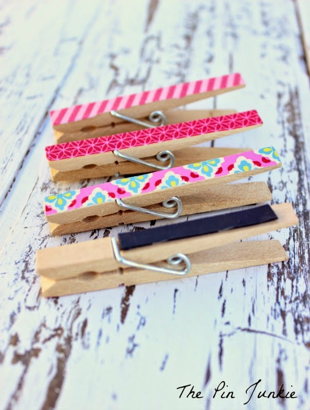 washi tape clothespin magnets 2