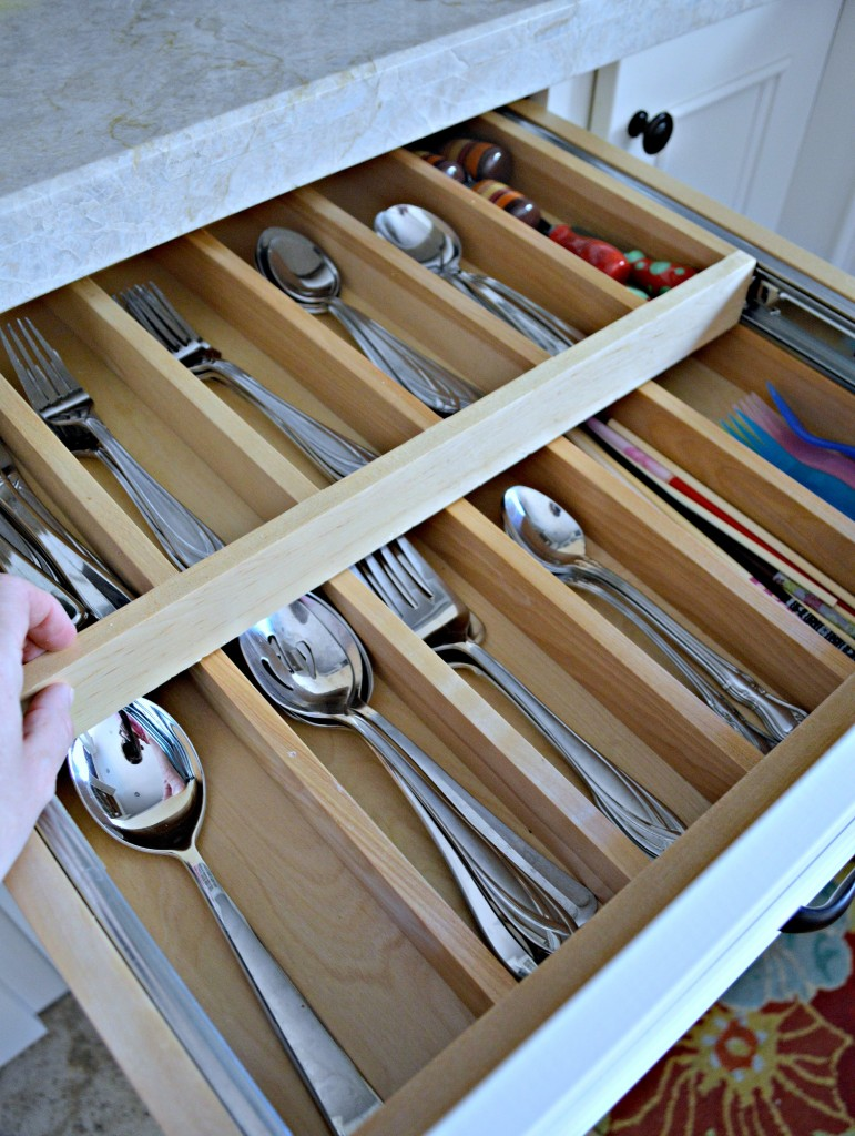 Double Tiered Drawer for Silverware
