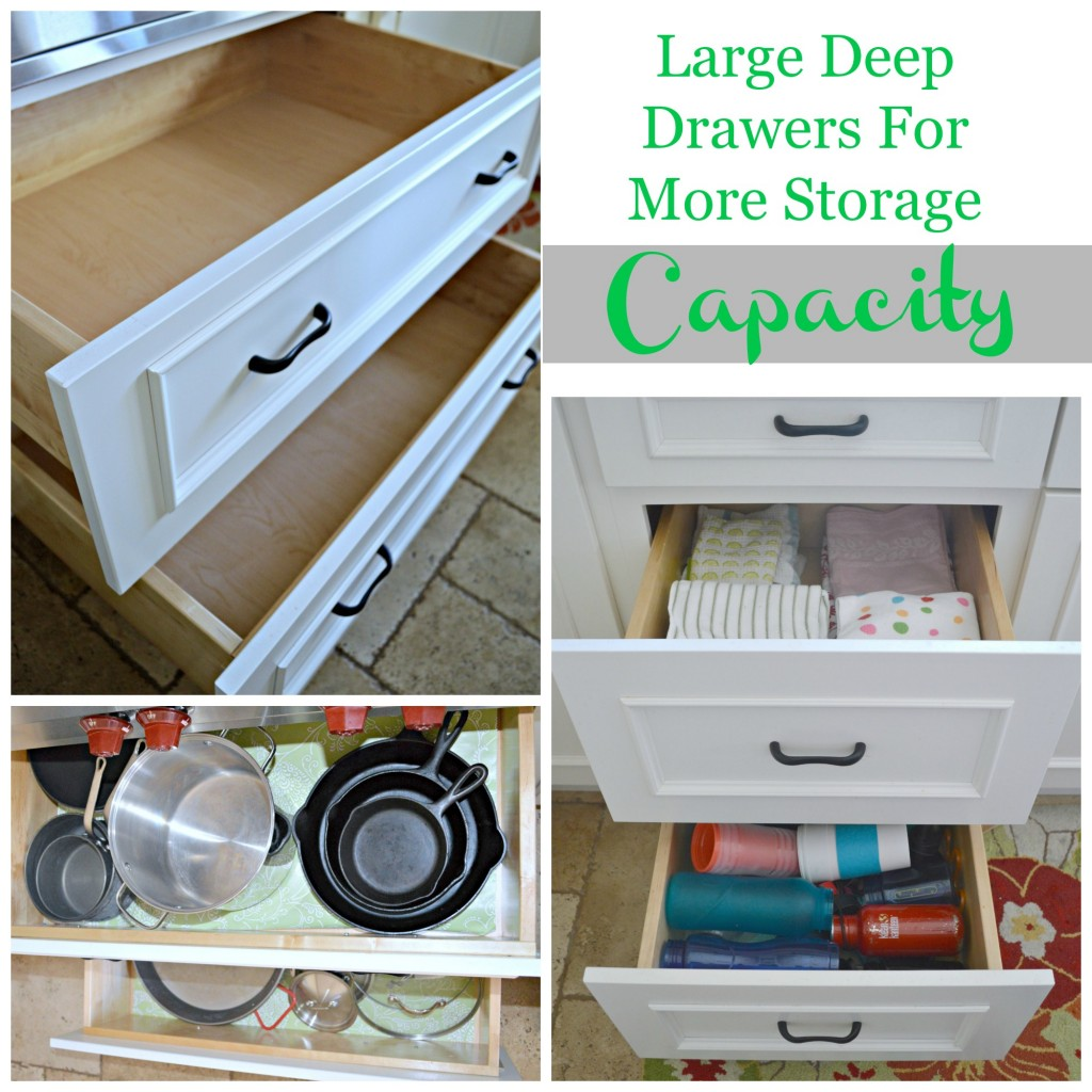 Large Deep Drawers for More Storage Capacity