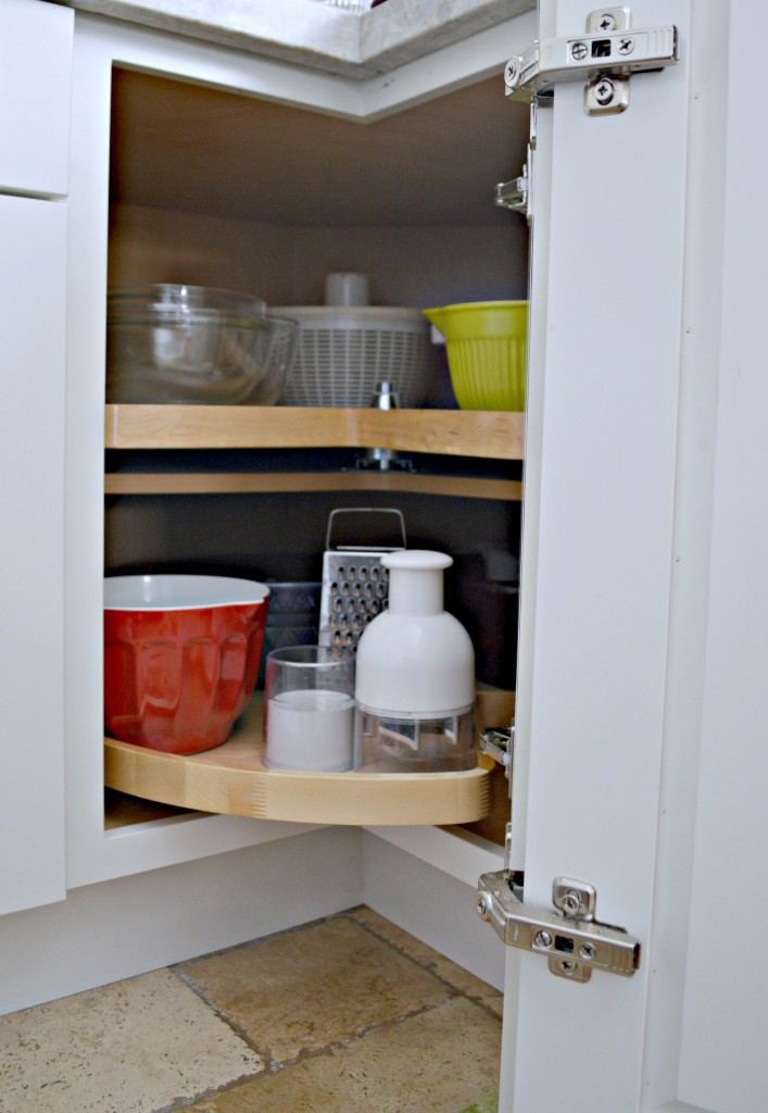 Lazy Susan so you don't have wasted space in the cabinets