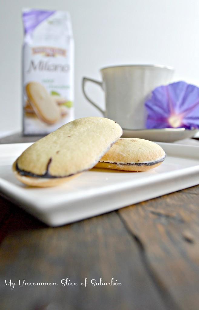 Mint Milano cookies with tea