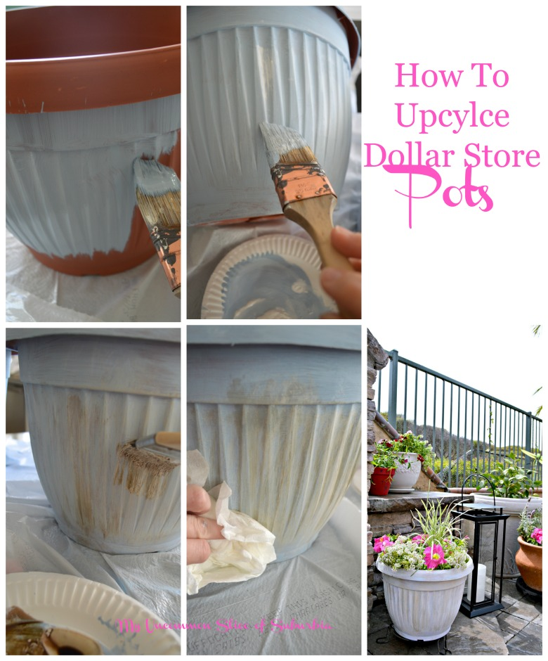 How to Upcycle Dollar Store Pots