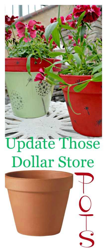 Update those dollar store pots