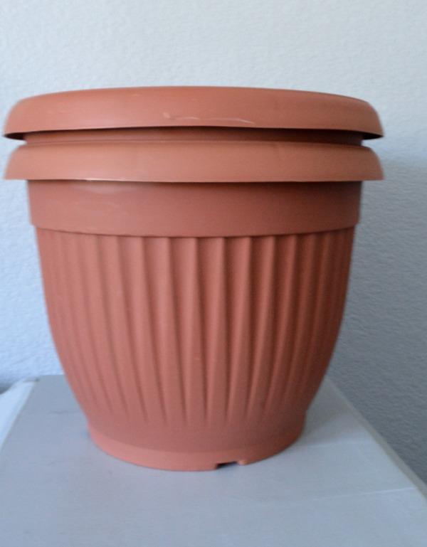 plastic dollar store pot