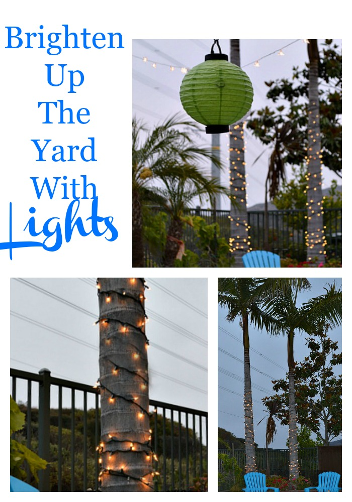 Brighten up the yard with lights