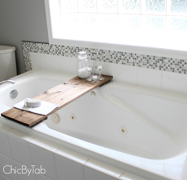 DIY Bathtub Shelf by Chic By Tab 3