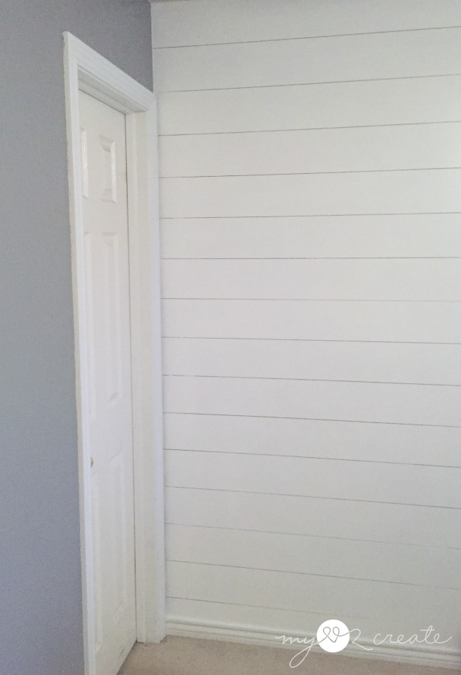 Finished plank wall,  MyLove2Create