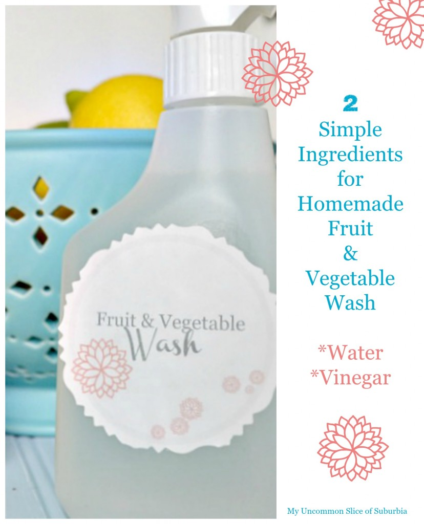 Fruit and Vegetable wash homemade, so easy