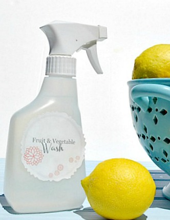 Fruit and Vegetable wash with 2 ingredients