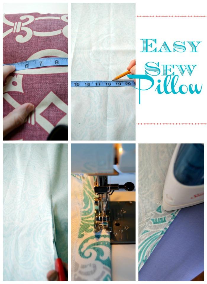 easy sew pillow diy