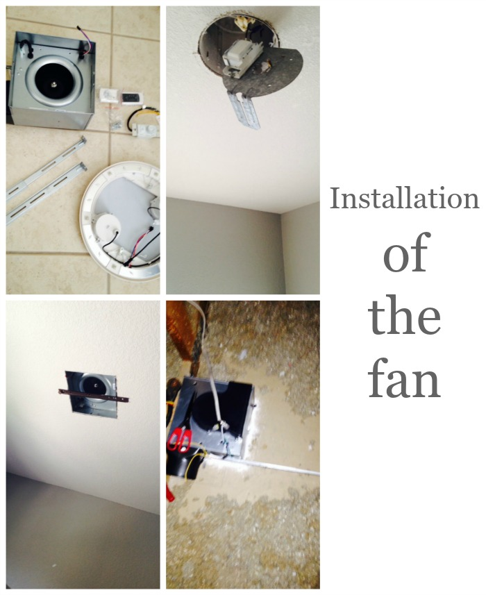 installation of the fan