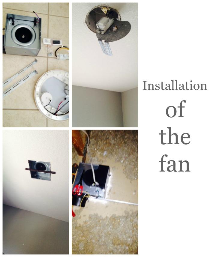 installation of the fan
